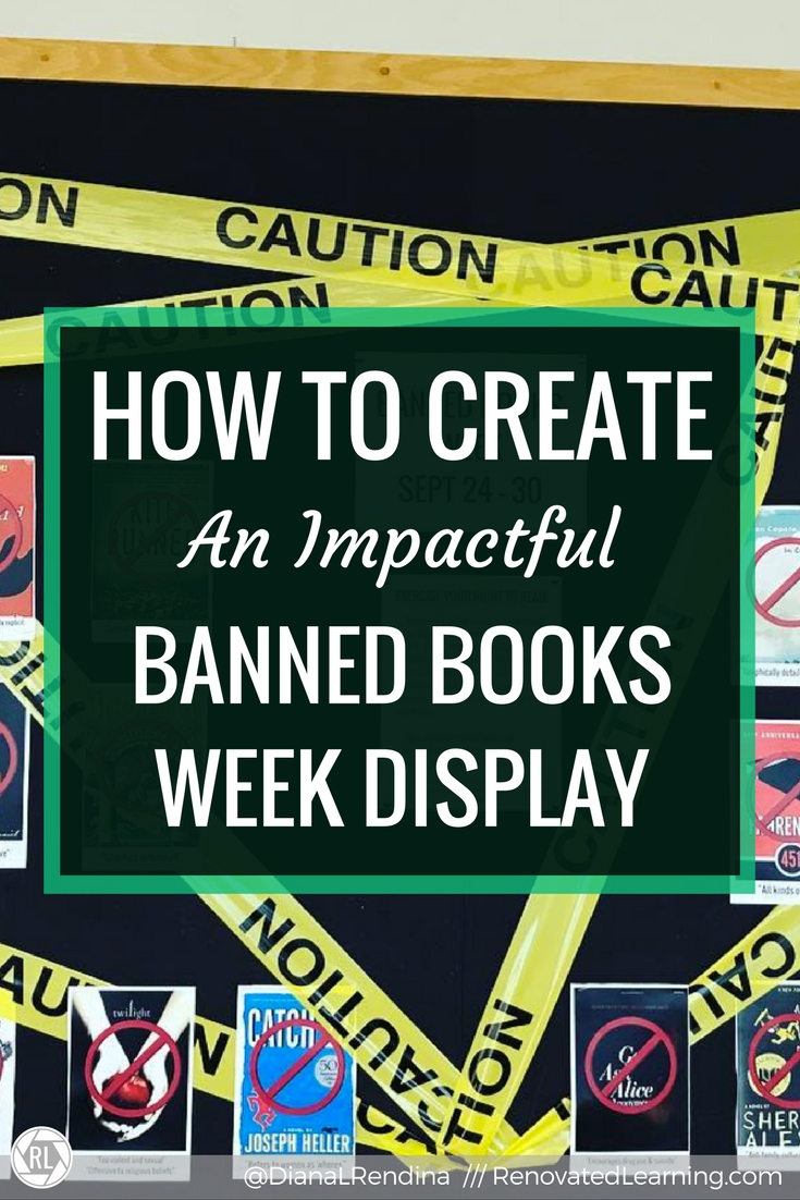 How to Create An Impactful Banned Books Week Display   Banned Books Week happens every fall, and it's a great opportunity to raise awareness about censorship. Here's some ideas for displays that will get kids talking.